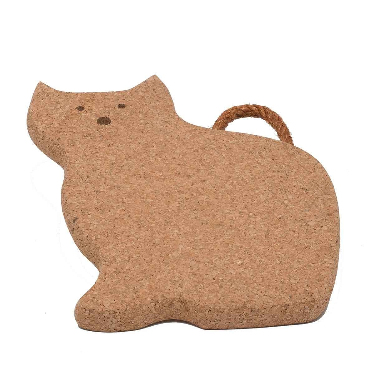 Sottopentola in sughero a forma di gatto Corky