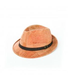 Cappello in sughero beige modello borsalino
