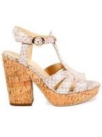 Sandalo in sughero con tacco