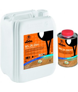 Two-component water-based polyurethane varnish for cork floors.