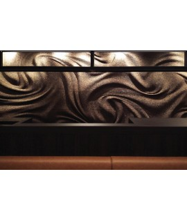 Rivestimento 3D in sughero per pareti e soffitti Wirl